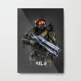 HALO Master Chief Metal Print