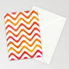High Noon Stripe Waves Stationery Cards