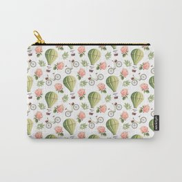 Bicycles Roses and Balloons Pattern Carry-All Pouch