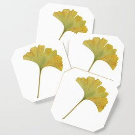 watercolour ginkgo Coaster