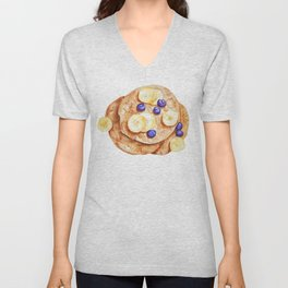 Pancakes breakfast Watercolor Unisex V-Neck
