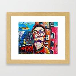 Selfie Framed Art Print
