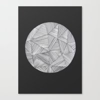 planet Canvas Prints featuring Planet by Hedda Hultman