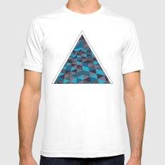 Triangulation (Inverted) White MEDIUM Mens Fitted Tee