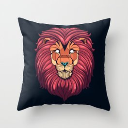 The eyes of a Lion Throw Pillow