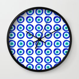 Evil Eye Amulet Talisman - on white Wall Clock