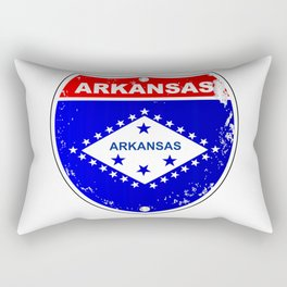 Arkansas Interstate Sign Rectangular Pillow