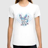 sylveon T-shirts featuring 8-Bit Shiny Sylveon (Textless) by einjello
