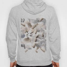 180630 Grey Black Brown Neutral Abstract Watercolour 9  | Watercolor Brush Strokes Hoody