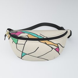 Colorful City Maps: San Pio delle Camere, Italy Fanny Pack