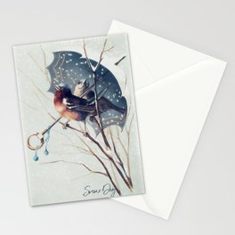 Snow Day - Robin Stationery Cards