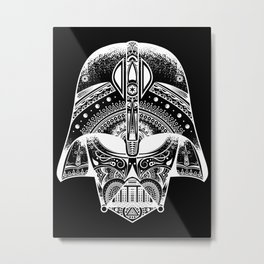 Mandala Darth Vader - White Metal Print