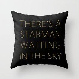 STARMAN #THIN GOLD Throw Pillow