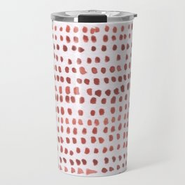 RED DOTTED PATTERN  Travel Mug