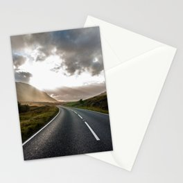Sun rays in Scotland Stationery Cards