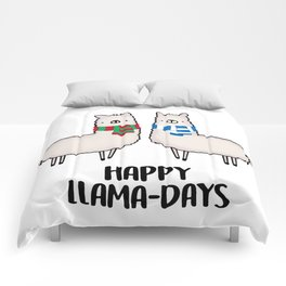 Happy Llama-Days Comforters