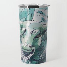 Bull Stock Exchange Bull Market Shares Shareholder Abstract Art Gift Travel Mug