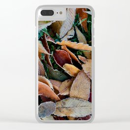 frosty mornings Clear iPhone Case
