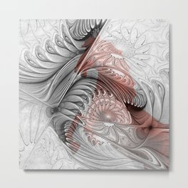 behind the fractal -b- Metal Print
