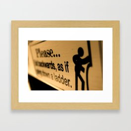Don't Fall Down Framed Art Print