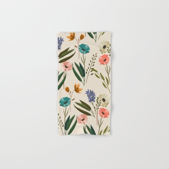 Floral 247 Cream Hand & Bath Towel