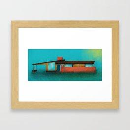 Mid Century House Cold Framed Art Print