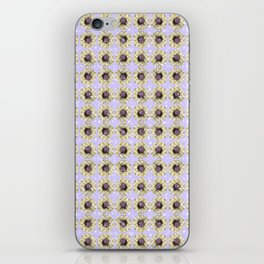 Mustard Yellow Daisy Floral Flowers Illustration on Lavender Bokeh iPhone Skin