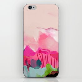 pink mountain iPhone Skin
