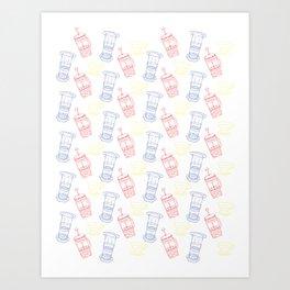 Coffee Brewing Pattern - Primary Art Print