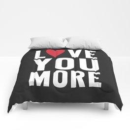 Love You More {dark} Comforters