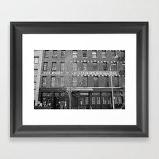 NY warehouse Framed Art Print