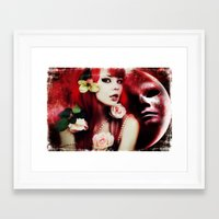 melissa smith Framed Art Prints featuring Melissa by Florian Ruocco a.k.a AKSHOBHYIA