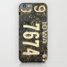 vintage License Plate  Slim Case iPhone 6s