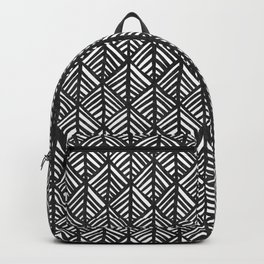 Abstract Leaf Pattern in Black and White Backpack