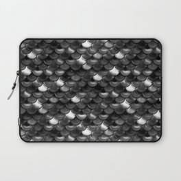 Black and White Scales Laptop Sleeve