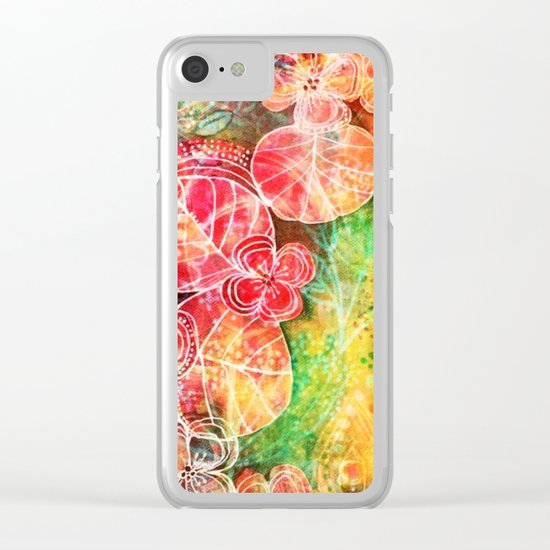 Sunshine Garden Clear iPhone Case