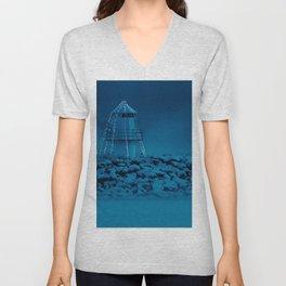 Pier and lighthouse Unisex V-Neck