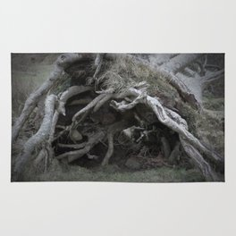 The enchanted fallen tree Rug