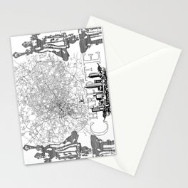 Charlotte Map Stationery Cards