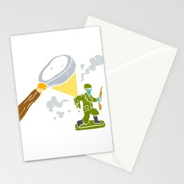 Magnifying melting soldier Stationery Cards