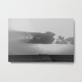 Evening clouds over the sea Metal Print