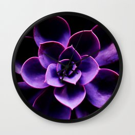 Ultraviolet Succulent Plant #decor #society6 #homedecor Wall Clock