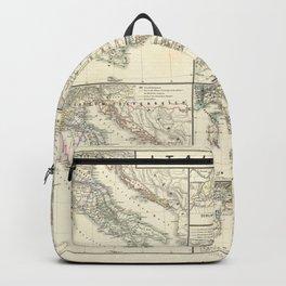 Vintage Map - Spruner-Menke Handatlas (1880) - 28 Italy 1798 - 1870 Backpack