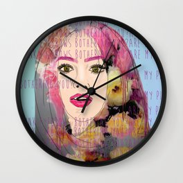 Are my pink eyebrows bothering you?  Wall Clock