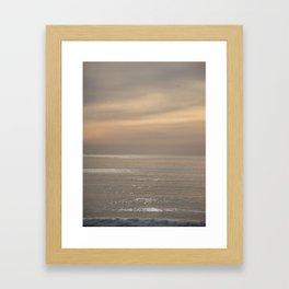 Shimmering Ocean Sunset Framed Art Print