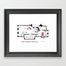 Breakfast at Tiffany's Apartment Floorplan Framed Art Print