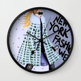 NEW YORK FAHION WEEK ILLUSTRATION BY JAMES THOMAS RYAN Wall Clock
