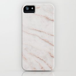 Marble Rose Gold Glitter Glam #1 #shiny #gem #decor #art #society6 iPhone Case