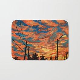 Street Meets Sky  Bath Mat