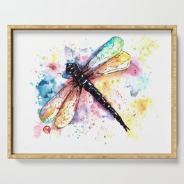 Dragonfly - Colors of summer Serving Tray